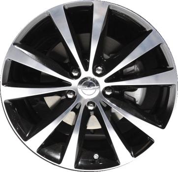 Aly2504u91 2432 Lb01 Chrysler 200 Wheel Black Polished 1tl91trmaa