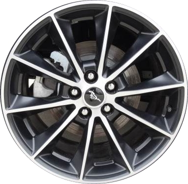 2015 2017 Mustang Wheels >> Aly10032 Ford Mustang Wheel Black Machined Fr3j1007aa