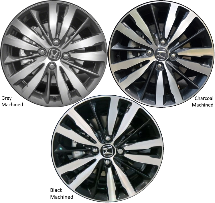 Aly64073 Honda Fit Wheel Charcoal Machined 42700t5ra91