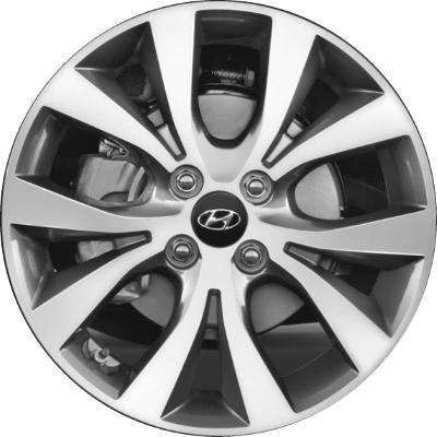 2013 Hyundai Accent Tire Size >> Hyundai Accent Wheels Rims Wheel Rim Stock OEM Replacement