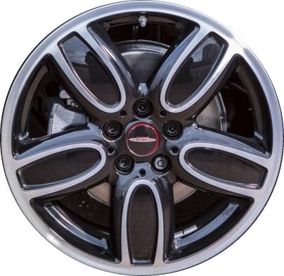 aly86240 mini cooper wheel black machined #36116858900