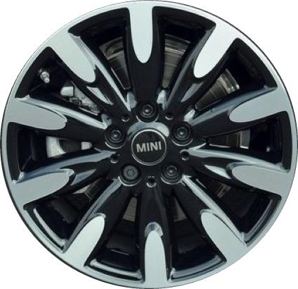 aly86253 mini cooper wheel black machined #36116855111