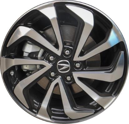 ALY Acura ILX Wheel Black Machined TVA - Acura oem wheels
