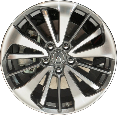 ALY Acura RDX Wheel Charcoal Machined TXA - Acura rdx tires