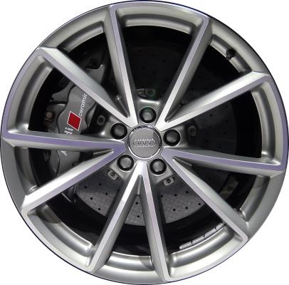 Aly58970 Audi Q5 Wheel Grey Machined 8r0601025ch