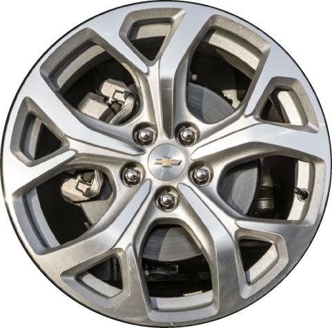 Aly5724u10 Chevrolet Volt Wheel Silver Machined 22971549