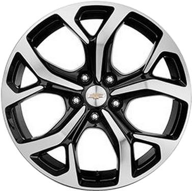 Aly5724u45 5725 Chevrolet Volt Wheel Black Machined 23251535