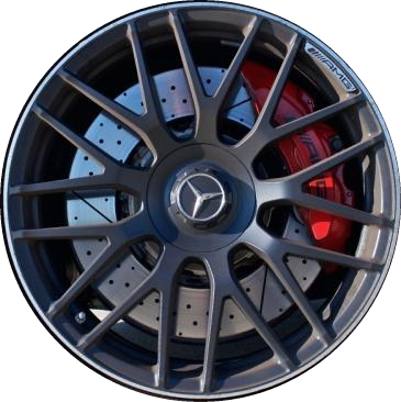 Mercedes c63 wheels rims wheel rim stock oem replacement for Red mercedes benz power wheels