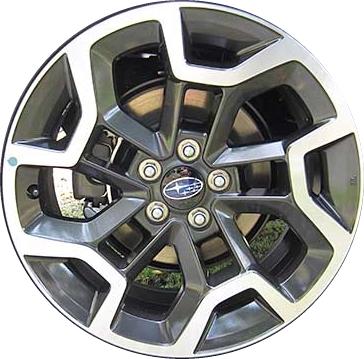 Aly68836 Subaru Crosstrek Wheel Charcoal Machined 28111fj170