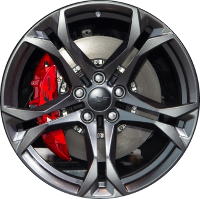 Chevy Stock Rims Painted Black
