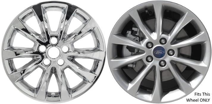 Ford Fusion Chrome Wheel Skins Hubcaps Simulators ...