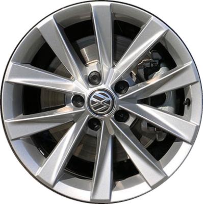 Aly70014 Volkswagen Golf Alltrack Wheel Silver Painted 5gm601025aa8z8