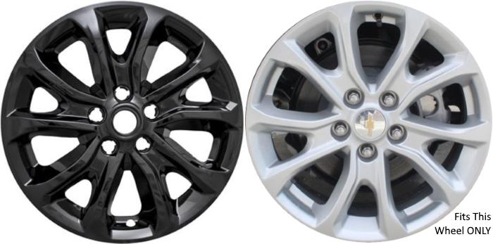 Imp 409blk 7018gb Chevrolet Equinox Black Wheel Skins Hubcaps Wheelcovers 17 Inch Set