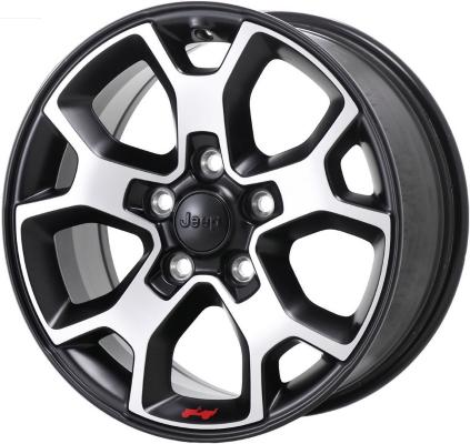 Aly96233u90 Jeep Wrangler Wheel Black Polished 6bz39trmaa