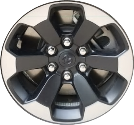 Dodge Ram Rims >> Aly2671u90 Dodge Ram 1500 Wheel Black Polished 5yd44trmaa
