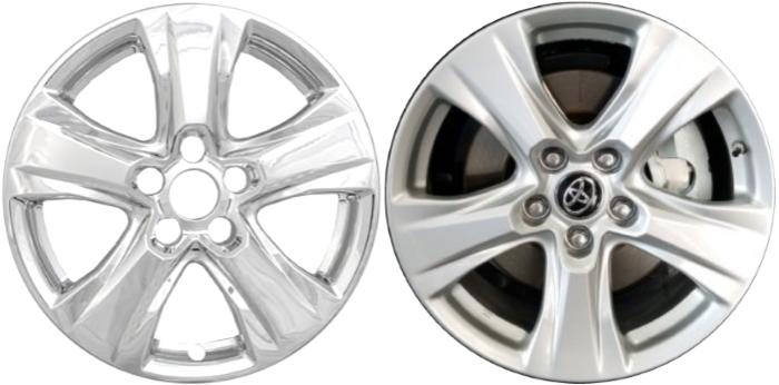 "2019-2020 Toyota RAV4 XLE Model # 7977G-B 17/"" 5 Spoke Black Wheel Skins SET//4"