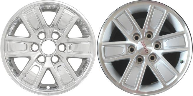 Set of 4 GMC Sierra 1500 Pickup 2005-2013 Chrome Wheel Skin