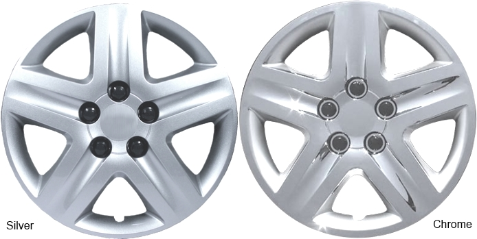 16 Inch Chrome 5 Spoke Aftermarket Wheel Covers Hubcaps New Set Of 4