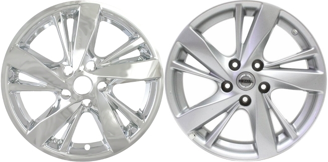 Imp 378x Nissan Altima Chrome Wheel Skins Hubcaps Wheelcovers 17 Inch Set