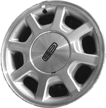 Aly3441 Lincoln Town Car Wheel Silver Machined Yw1z1007da