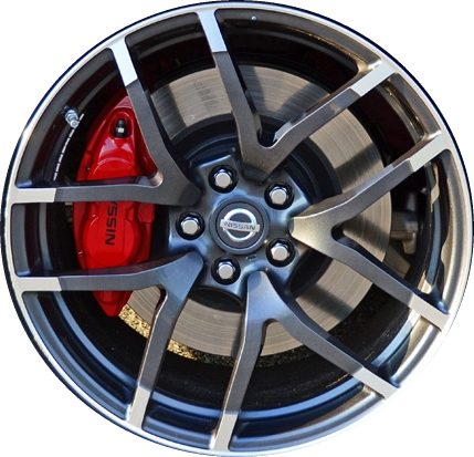 Aly62627 Nissan 370z Wheel Charcoal Machined D0c003gm3a