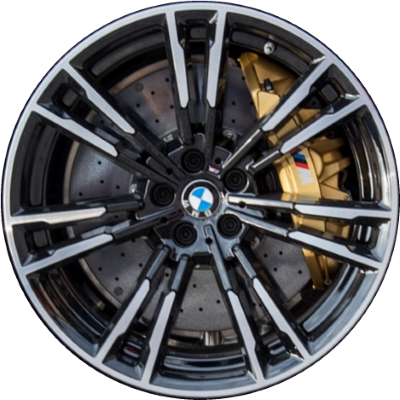 Aly86390 Bmw M5 Wheel Black Machined 36118073979