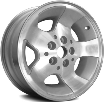 ALY9024 Jeep Wrangler Wheel Silver Machined #5GC81TAEAA