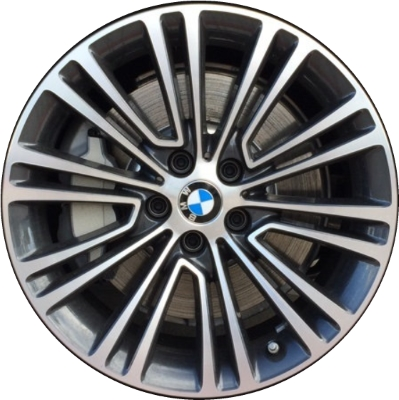 Aly86326 Bmw 530e 530i 540i M550i Wheel Charcoal Machined 36116863420