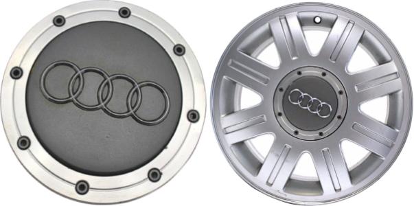C Audi A OEM Center Cap B A - Audi wheel center caps