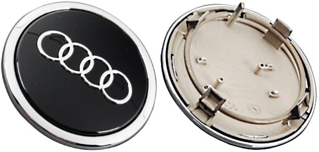 C Audi A A A Q RS S TT OEM Black Center Cap BA - Audi wheel center caps
