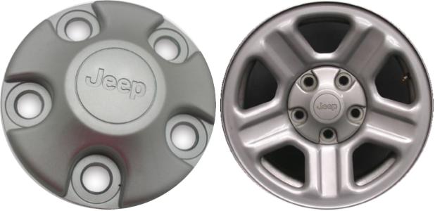 Jeep Grand Cherokee Wrangler Compass alloy wheel center cap 5HT59TRMAC