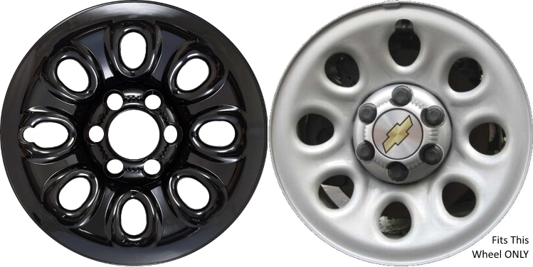Chevrolet Silverado 1500 Chrome Wheel Skins Hubcaps