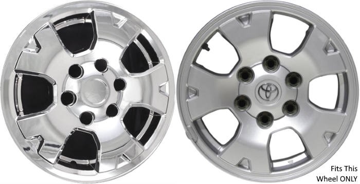 Imp 6946pc Hh Toyota Tacoma Chrome Wheel Skins Hubcaps Wheelcovers 16 Inch Set