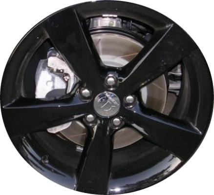 Aly2479u45 2480 Dodge Dart Wheel Black Painted