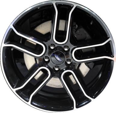 Aly Ford Edge Flex Wheel Black Machined Dazf