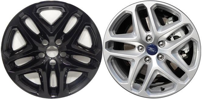 Fusion Ford Black Hubcaps on Black Mercury Milan