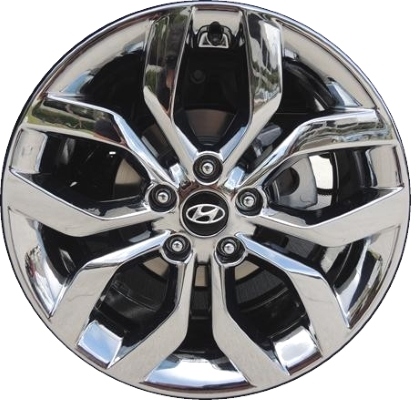 Re Chrome Rims >> Aly70814u95 Hyundai Veloster Wheel Chrome 2v040adu00