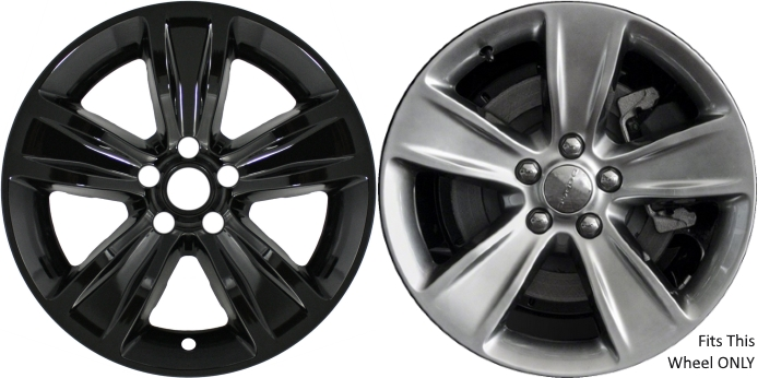 """08 09 10 DODGE CHARGER CHROME WHEEL SKINS  17/"""" FOR ALLOY WHEEL WITH OEM CENTER"""