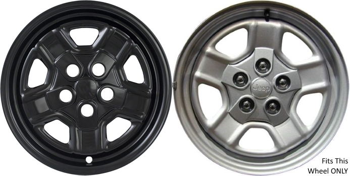 Imp 78gblk 6997gb Jeep Patriot Black Wheelskins Hubcaps Wheelcovers
