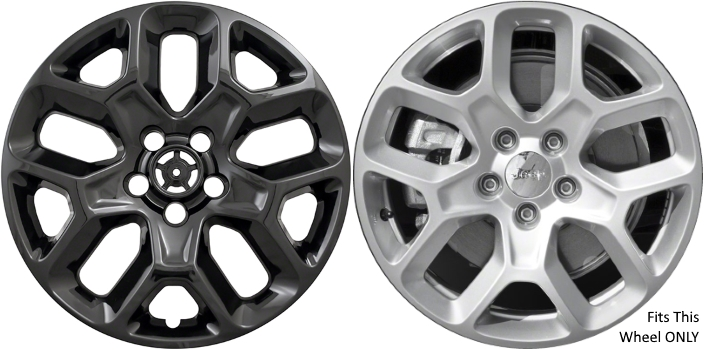 wheel imp inch wheelskins compass p jeep covers set hubcaps wheelcovers black