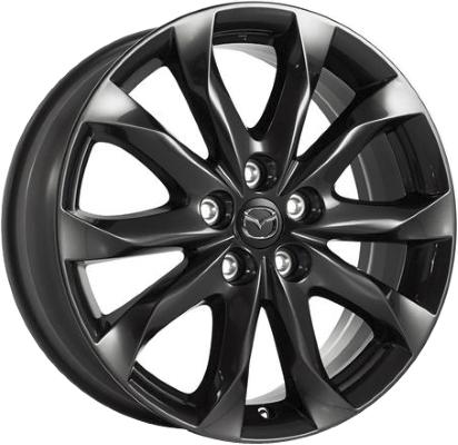mazda mazda3 wheels rims wheel rim stock oem replacement 05 Mazda 3 Slammed aly64962u45 mazda3 wheel black painted b45bv3810