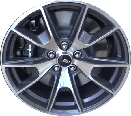 Lc73 Ford Mustang Wheel Charcoal Machined Fr3z1007k