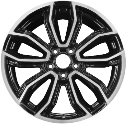 Aly3909 Ford Mustang Wheel Black Machined Dr331007fa
