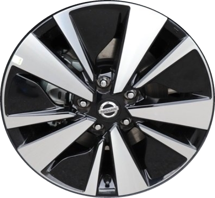 Aly96275 Nissan Altima Wheel Black Machined