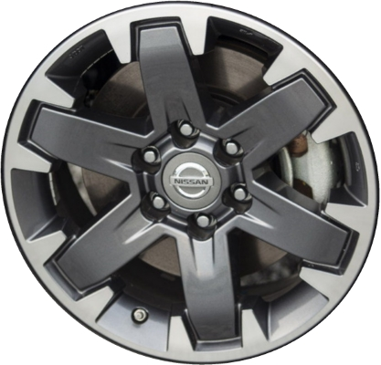 Aly62612 Nissan Frontier Xterra Wheel Charcoal Machined 403009bk5a
