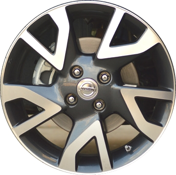 aly97489hh nissan versa wheel charcoal machined 403009mb0a