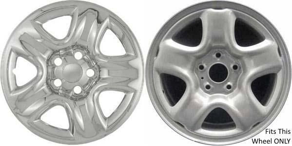 """4 Chrome Rav-4 Wheel Skins Hubcaps 16/"""" 2001-2005 Toyota Rav4 Wheel Covers"""