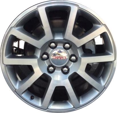 aly5699 gmc sierra 1500 yukon wheel grey machined 22796082 Yukon Denali with Rims 24